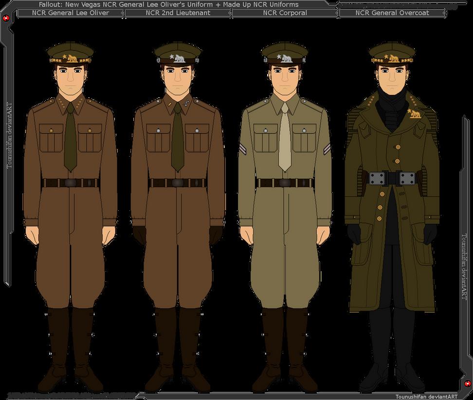 Fallout - NCR Gen. Lee Oliver + Fictional Uniforms by Grand-Lobster-King on DeviantArt
