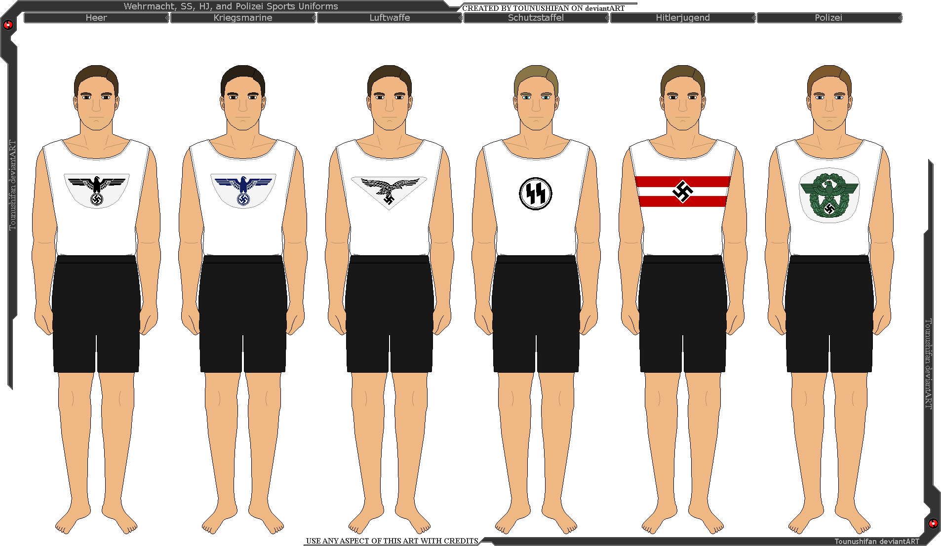 Wehrmacht, SS, HJ, and Polizei Sports Uniforms by Grand-Lobster-King on DeviantArt