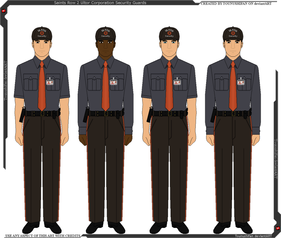 Saints row 2 ultor security guards by grand lobster king on deviantart for Html table th 2 rows