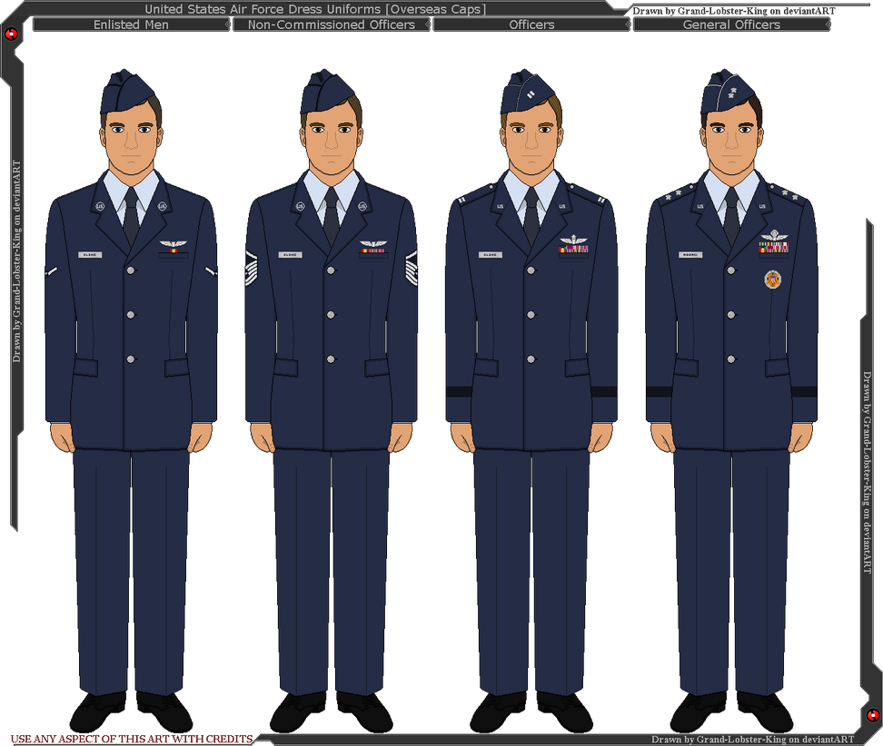 United States Air Force Dress Uniforms by Grand-Lobster ...