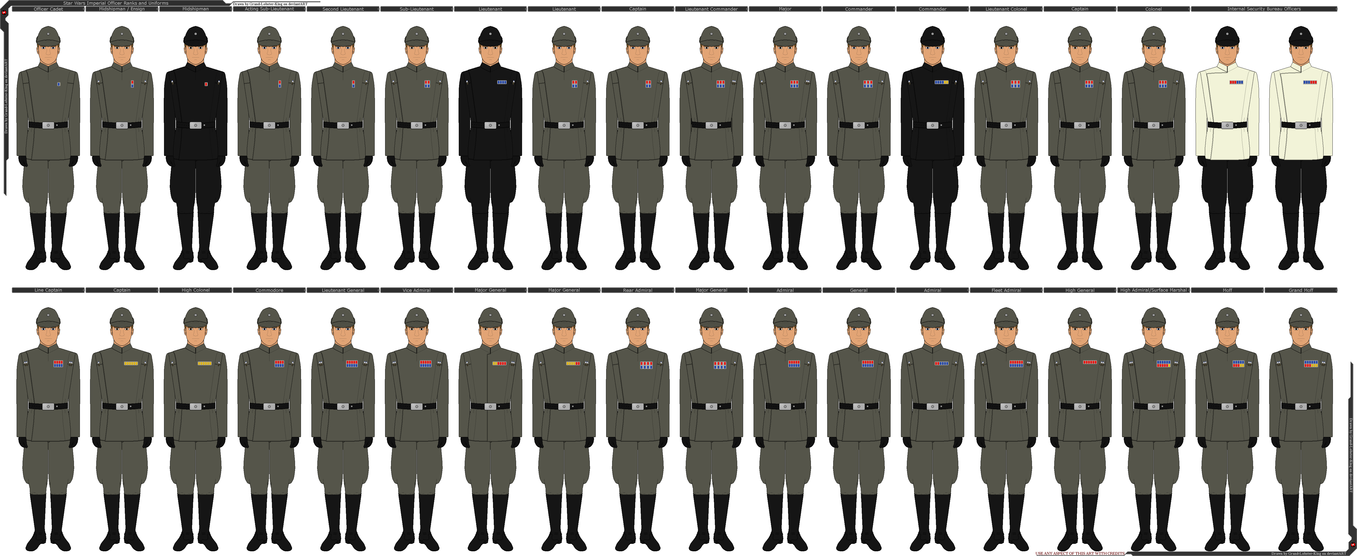 Star Wars - Imperial Officer Ranks and Uniforms by Grand-Lobster-King on DeviantArt