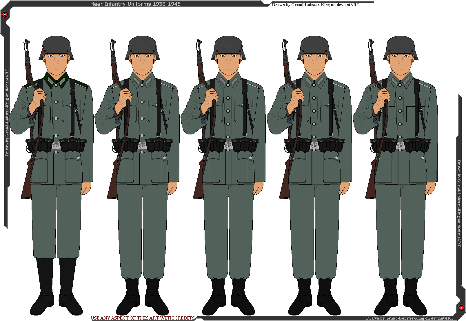 Heer Infantry Uniforms 1936-1945 by Grand-Lobster-King on DeviantArt