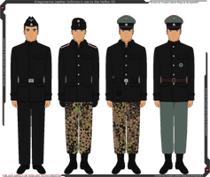 Waffen-SS Leather Panzer Uniforms by Grand-Lobster-King