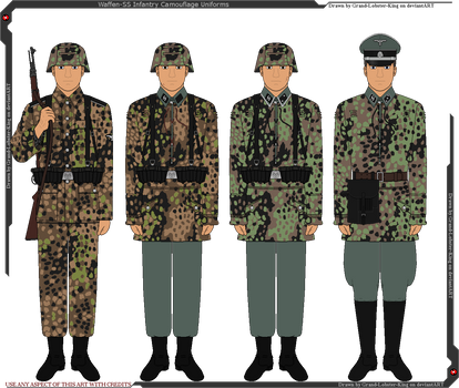 Waffen-SS Camouflaged Infantry Uniforms by Grand-Lobster-King