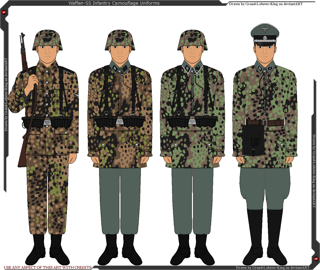 Waffen-SS Camouflaged Infantry Uniforms by Grand-Lobster-King on DeviantArt