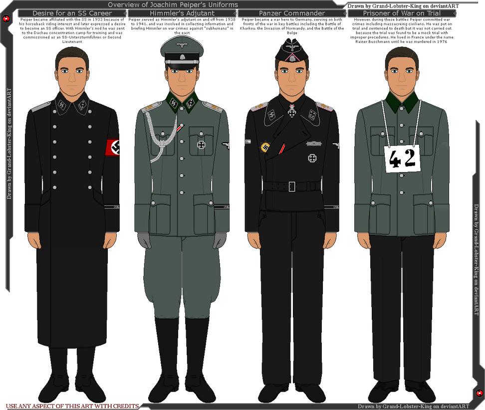 Overview Of Joachim Peiper's Uniforms By Grand-Lobster