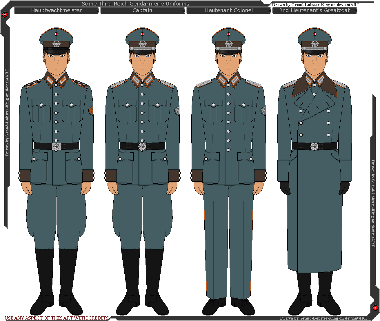 Some Third Reich Gendarmerie Uniforms by Grand-Lobster ...
