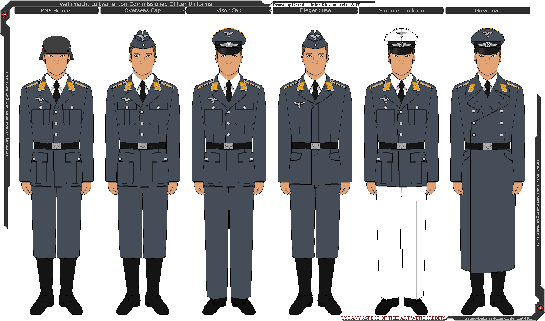Wehrmacht Luftwaffe Non-Commissioned Off  Uniforms by Grand