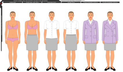 GLK Female Pixel Base Clothing/Uniform Templates
