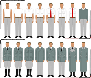 GLK Male Pixel Base Clothing/Uniform Templates