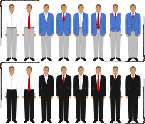 GLK Male Pixel Base Businesswear Templates