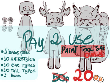 [P2U ANTHRO BASE] PAINT TOOL SAI ONLY! 20 POINTS