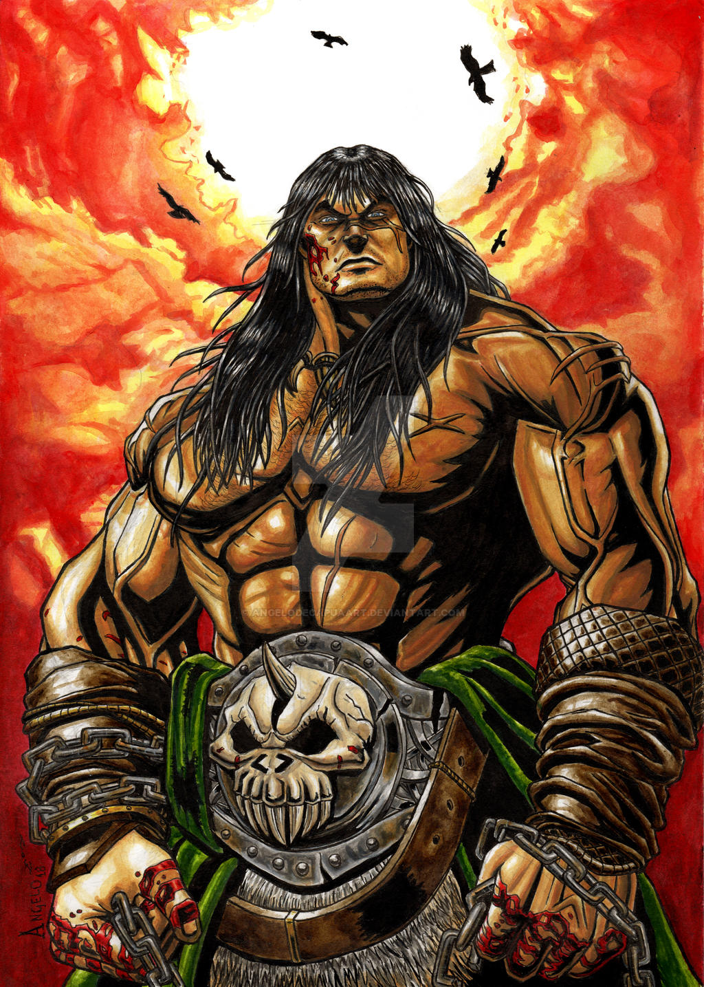 Conan The Barbarian By AngeloDeCapuaart On DeviantArt