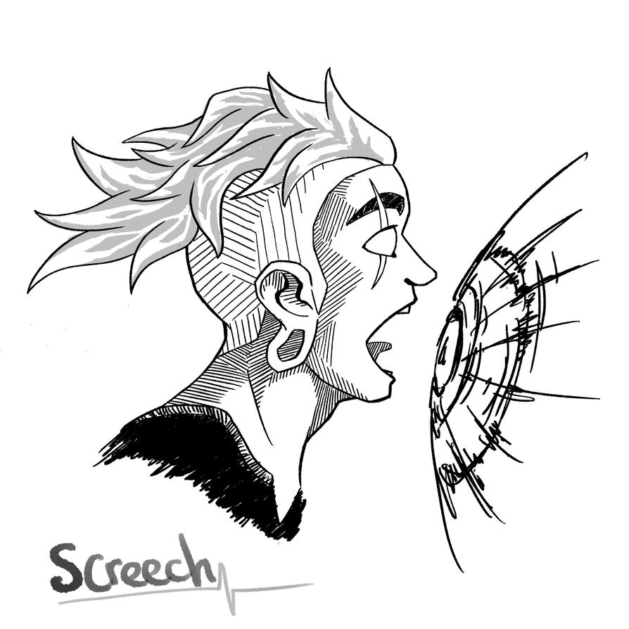 Inktober 2017 9th Screech . Character: Lars - Steven Universe