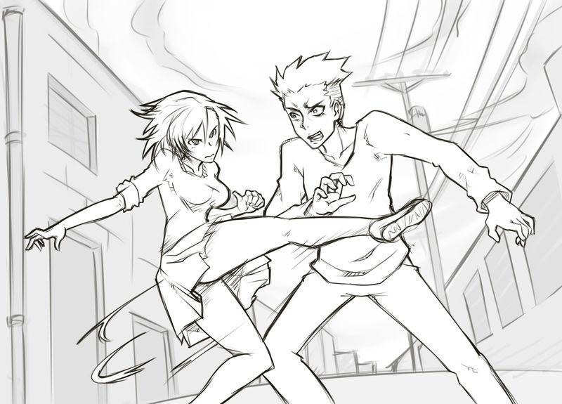Random Fight Scene by MagniFire