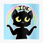 I Don't Know Cat with Rainbow (IDK) by jadedamrail