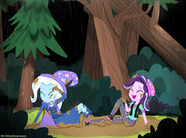 Spring Time in The Everfree Forest (Commission) by InvisibleInkDoodles