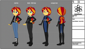 Human Sunset Shimmer (Commission) by InvisibleInkDoodles