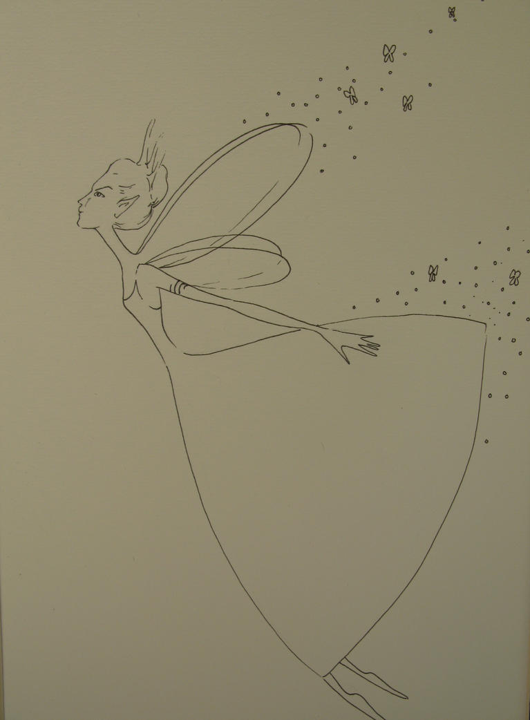 Flying Fairy Drawing Flying fairy by zozo74