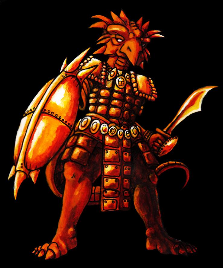 Lizard Warrior by steamgear