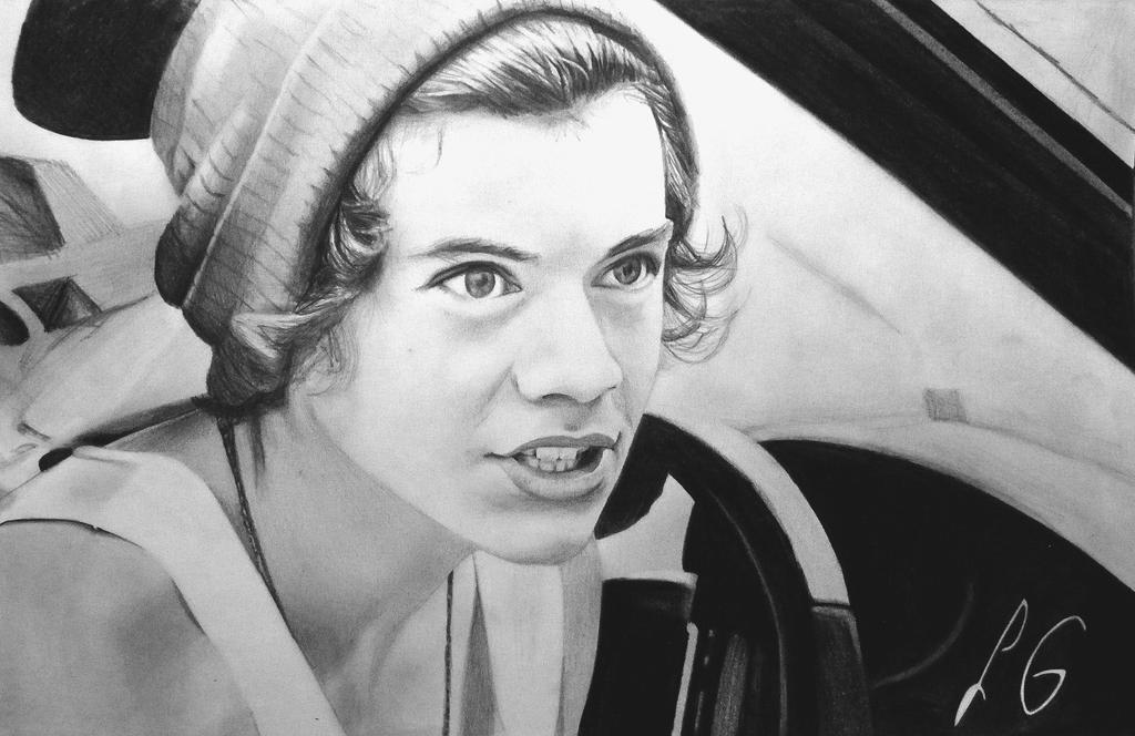 Harry styles portrait by lauragreentf