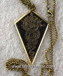 Arrowhead steampunk pendant