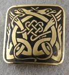 Celtic ornament brass belt buckle