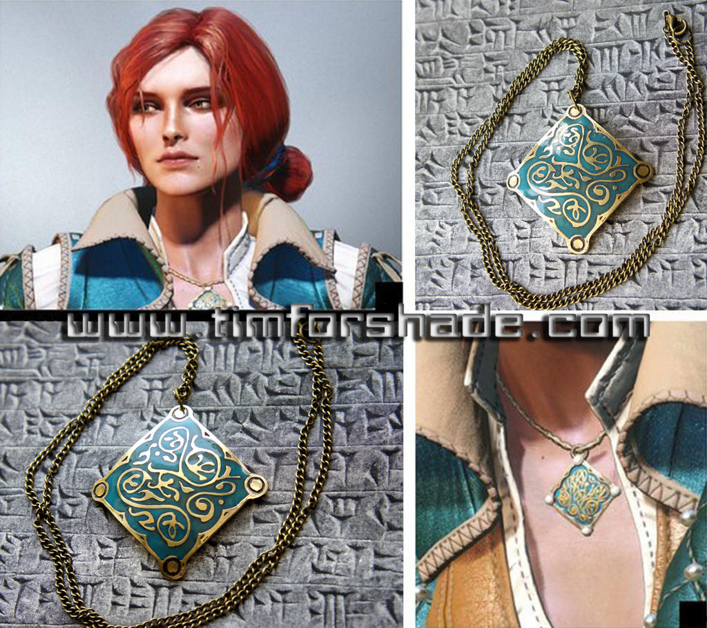 Triss Merigold of Maribor colored amulet by TimforShade