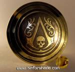 Assassin's creed brass belt buckle