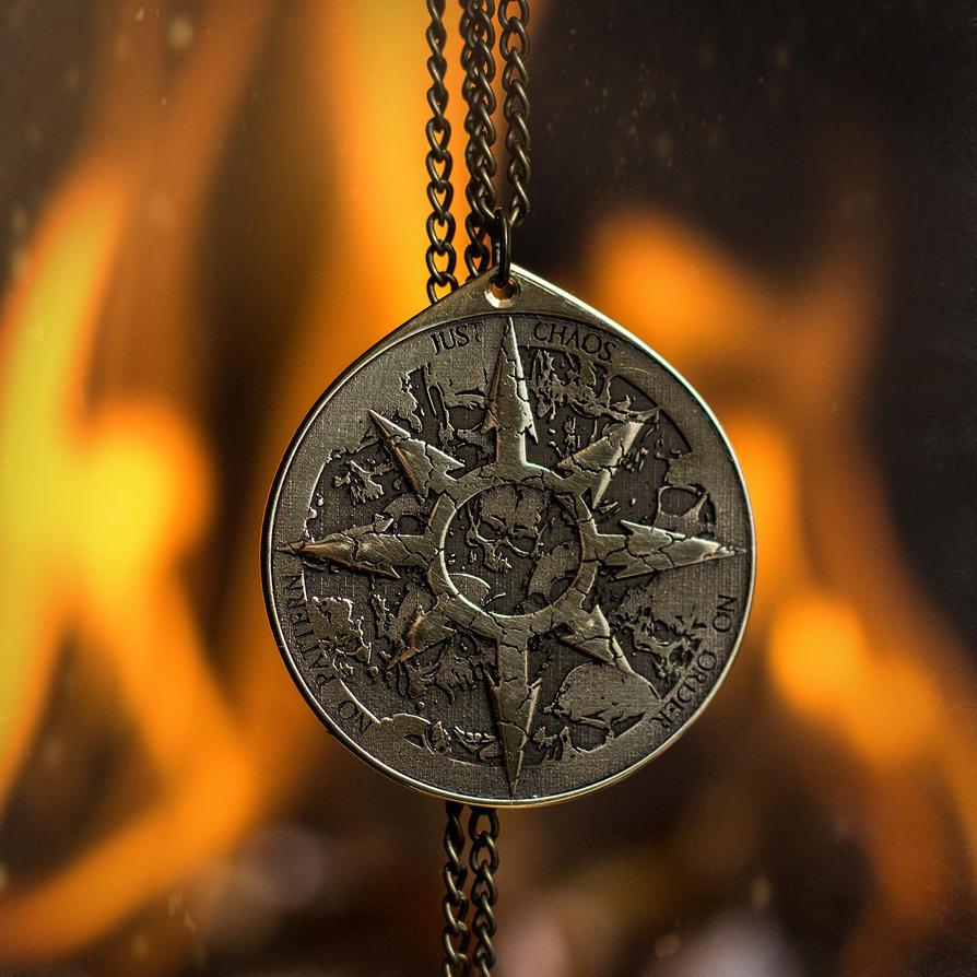 Chaos Star Alchemy magic pendant kabbalah amulet by TimforShade