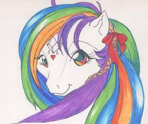 rainbow pony by tearsofthunder