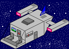 Pixel Spaceship by willy88