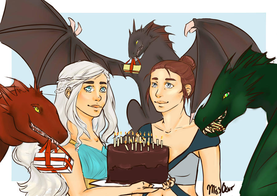 Game of Thrones Birthday - Commission by TheLittleArtist