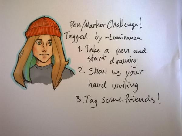 Pen/Marker Challenge by TheLittleArtist