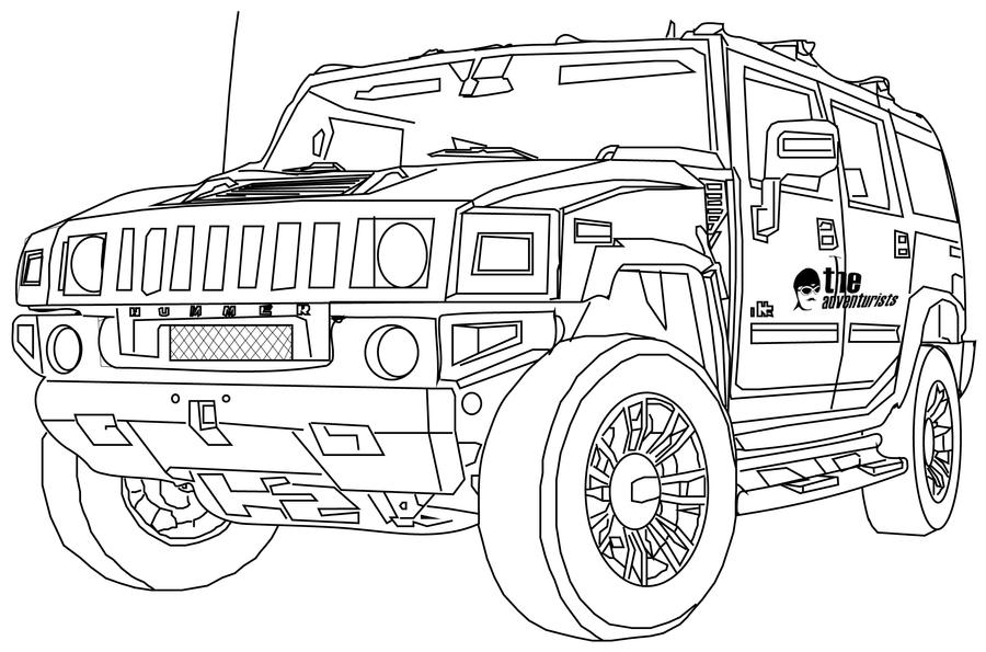 hummer free coloring pages - photo#18