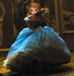 Nami as Ella running in her massive Ball Gown