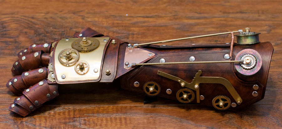 Steampunk Bracer and Gauntlet Mark II by CraftedSteampunk