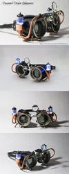 Powered Ocular Enhancers - Black by CraftedSteampunk