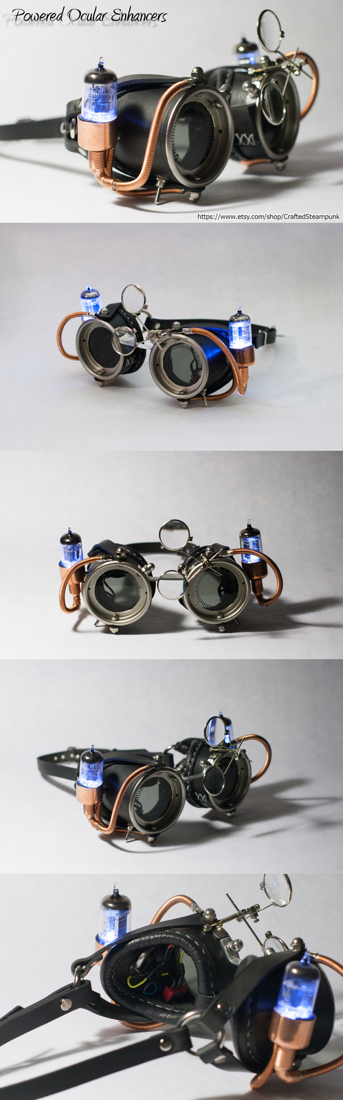 Powered Ocular Enhancers - Black by CraftedSteampunk
