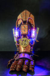 Powered Steampunk Gauntlet by CraftedSteampunk