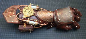 Etched Armored Steampunk Gauntlet