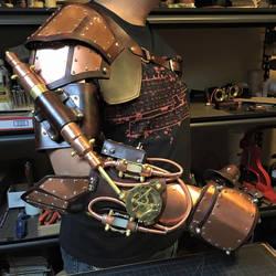 Steampunk Arm with piston. Work in progress.