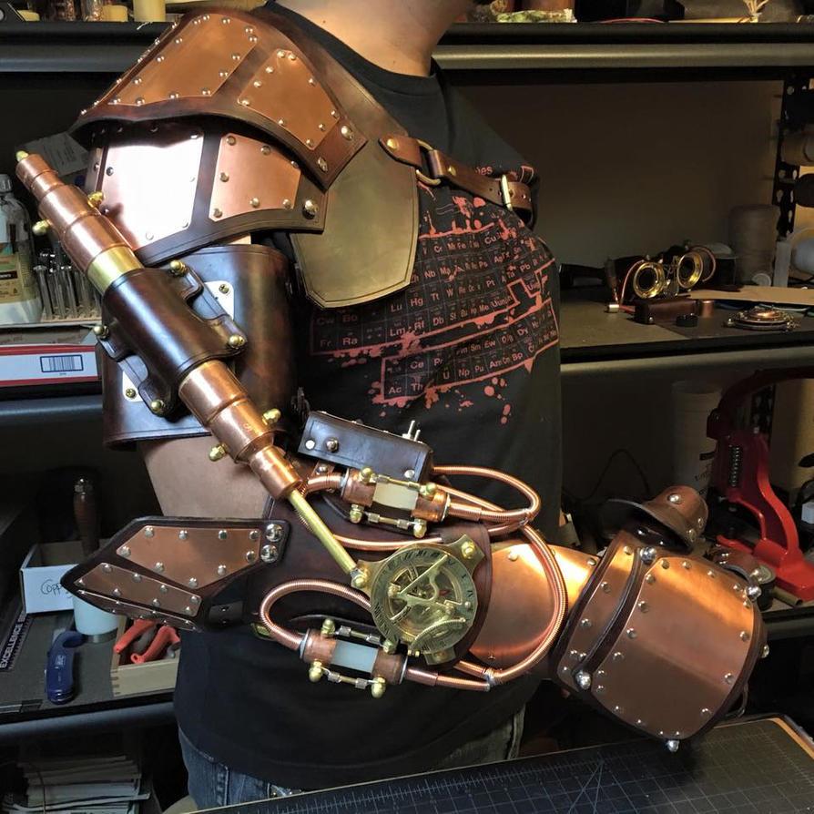 Steampunk Arm with piston. Work in progress. by CraftedSteampunk