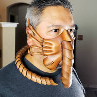 Leather Facehugger Mask