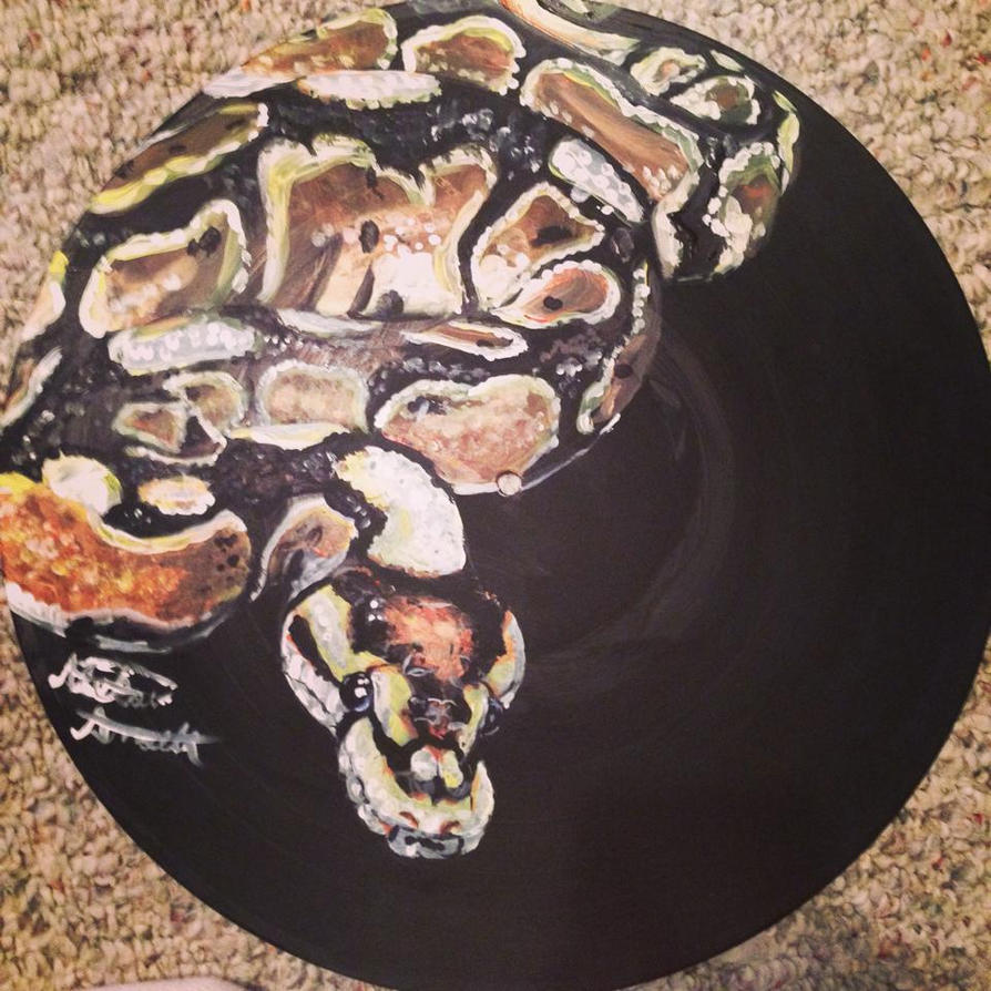 Vinyl Art-Ball Python by binkaminka on DeviantArt