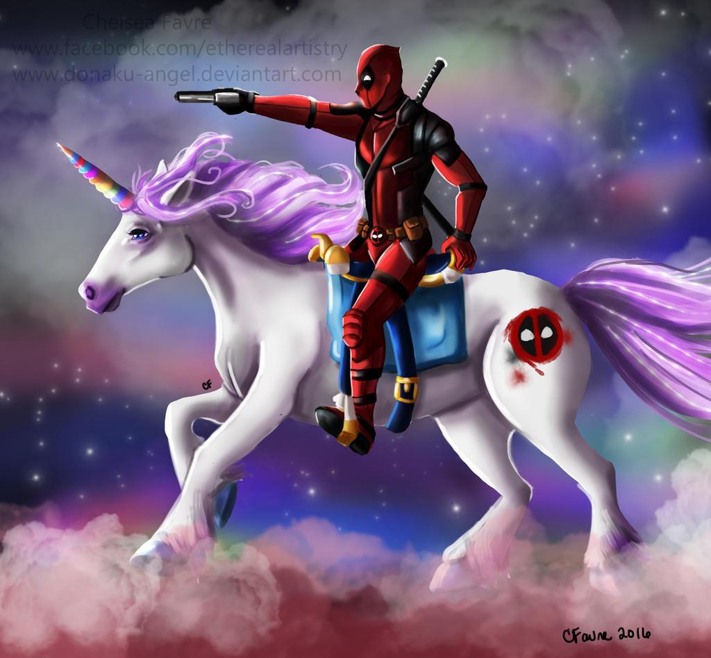 deadpool and his unicorn by chelseafavre on deviantart Artist at Work Clip Art Artist Brush Clip Art