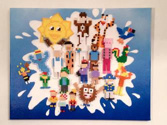 Breakfast Cereal Mascots by PixelArtShop