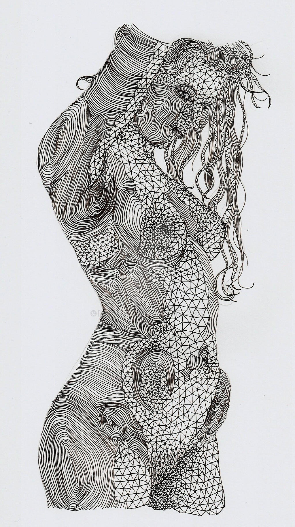 Line Drawing Female Body : Curves xiii by louis art on deviantart