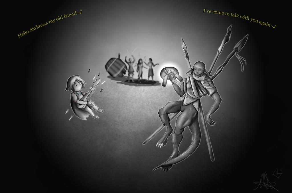 Hello Darkness my old friend~ by Unlock3d