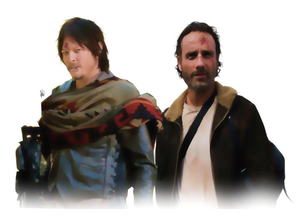 Daryl Dixon/Rick Grimes - The Walking Dead by LenaLawliet